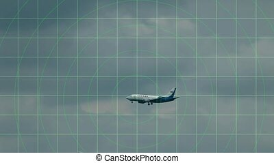 aircraft on the radar screen