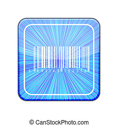 Vector version. Bar code icon. Eps 10 illustration