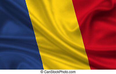 Romania - waving flag of romania