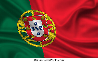 Portugal - waving flag of portugal
