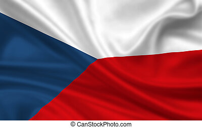 Czech Republic - waving flag of czech republic