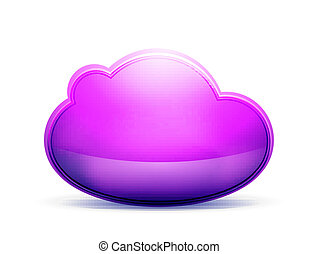Cloud storage concept - Glossy cloud icon Internet storage...