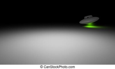 UFO - Concept animation, UFO passing by and landing