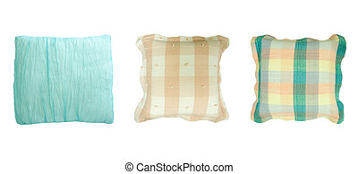 Decorative pillow isolated on white. Clipping path
