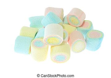 coloridos,  marshmallow, isolado
