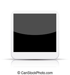 vector photo app icon on white background. Eps 10