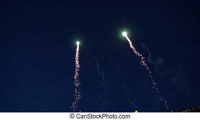 holiday fireworks on sky night