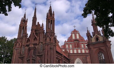 UNESCO heritage St. Anne's Church in Vilnius capital...