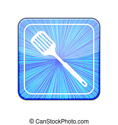 Vector version. slotted kitchen spoon icon. Eps 10...