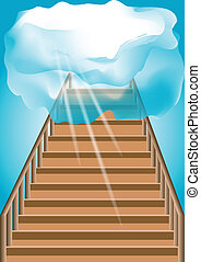 Stairway to the sky. Abstract background in 10 EPS