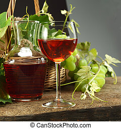 wine with ripe grapes