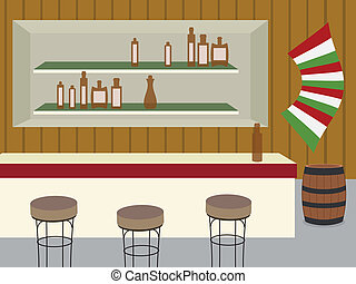 saloon - indoor of bar, saloon or cantina in old western