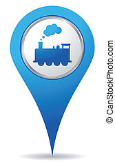train location - blue train location icon for maps