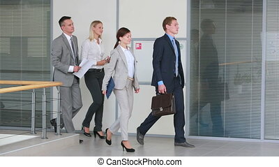 Business gathering - Successful business team going for a...