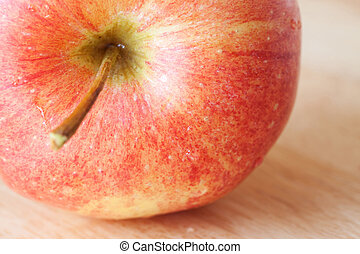 Close up of a red apple