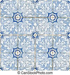 Portuguese vintage ceramic tiles