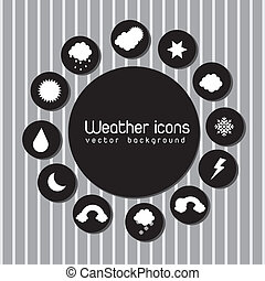 weather change - black and white weather icons over gray...