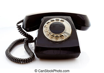 Phone on a light background - Retro rotary phone on a light...