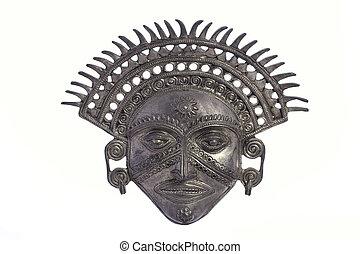 metal, inca, sol, dios, máscara