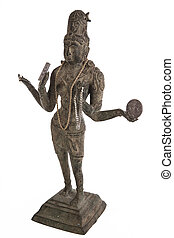 Bronze Statue of the Hindu Goddess Lakshmi - Lakshmi is the...