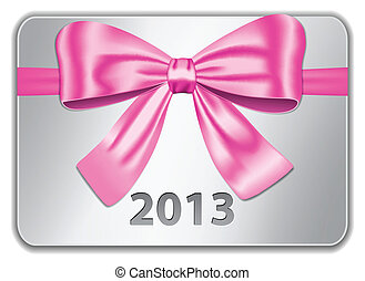 2013 card with pink bow