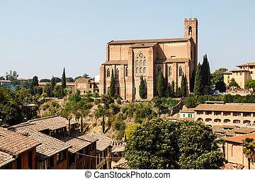 Church of San Domenico in Siena, Tuscany, Italy