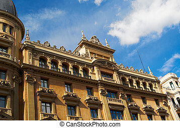 Historic buildings with lace fronts of Madrid - Historic...