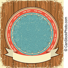 Western symbol background on old wood texture - Western...