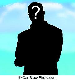 quem, ninguém, sombra, homem, desconhecidas