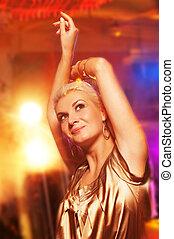 Woman in the night club