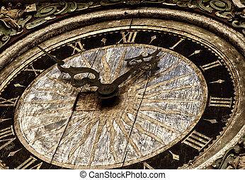 Picture of an antique clock