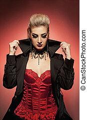vampire, femme