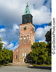 Turku Cathedral, Finland - Medieval Turku cathedral in...