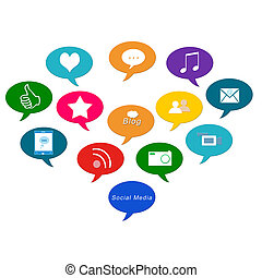 Social Media - Colorful image for the web of social media...