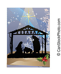 christmas poster clip art - Clip art illustration of...