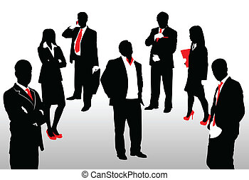 business people - Vector illustration of business people
