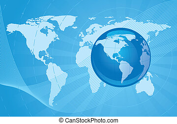 digital vector background image of a globe