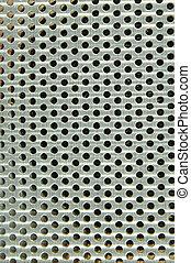 Shiny silver metal pattern