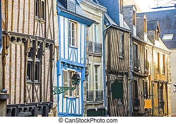 Le Mans (Sarthe, Pays de la Loire, France) - Buildings in...