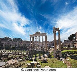 Old city of Rome at the day time, Italy