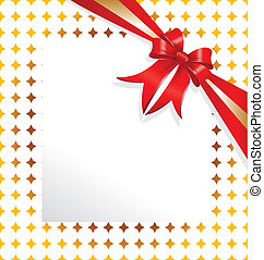 Red ribbon paper for copy-text vector eps10