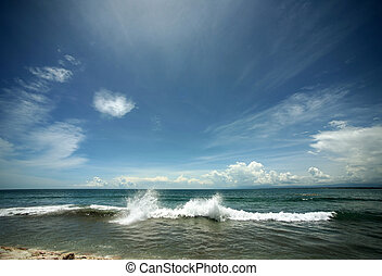 Indian ocean - The image of the winter Indian ocean and the...