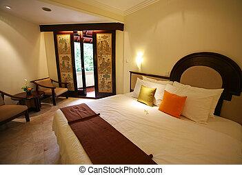 Bedroom - Nice bedroom with the big bed. Hotel Kartika. Bali
