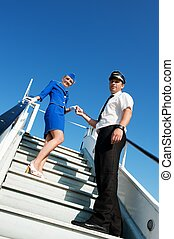 Picture of a cabin crew couple