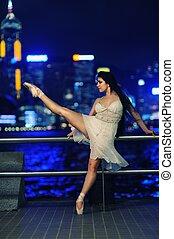 Beautiful ballet dancer outdoors