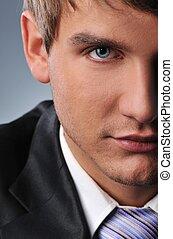 Close-up portrait of a businessman