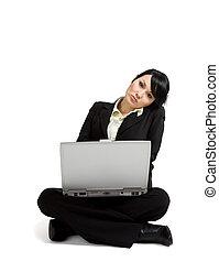 arbeitende,  businessswoman