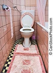 brudny, toaleta
