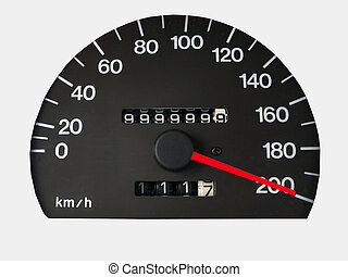 speedometer with clipping path