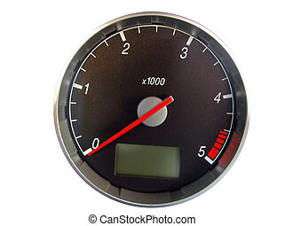 tachometer against a white background